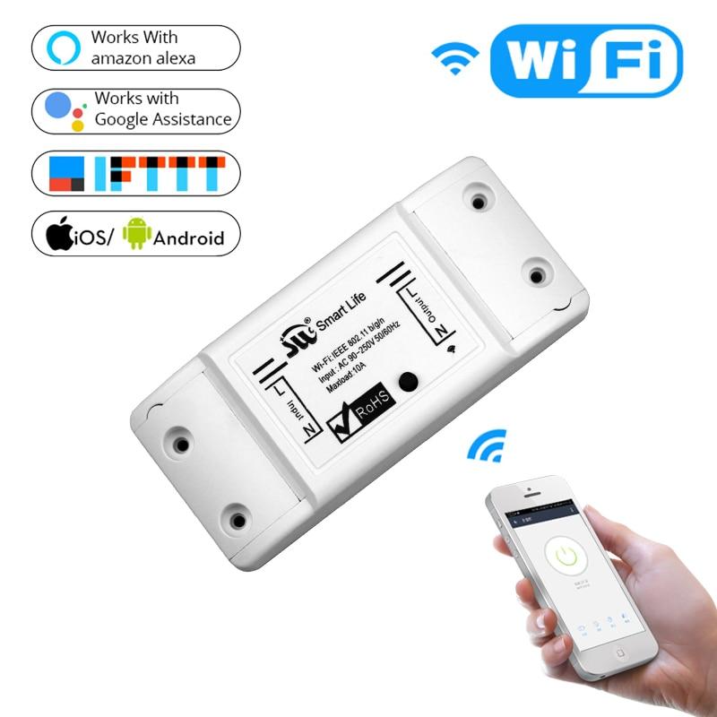 DIY WiFi умный выключатель света Универсальный таймер выключателя беспроводной пульт дистанционного управления работает с Alexa Google Home умный до...