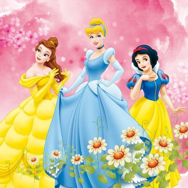 8x8ft Pink Flowers Snow White Belle Cinderella Princess