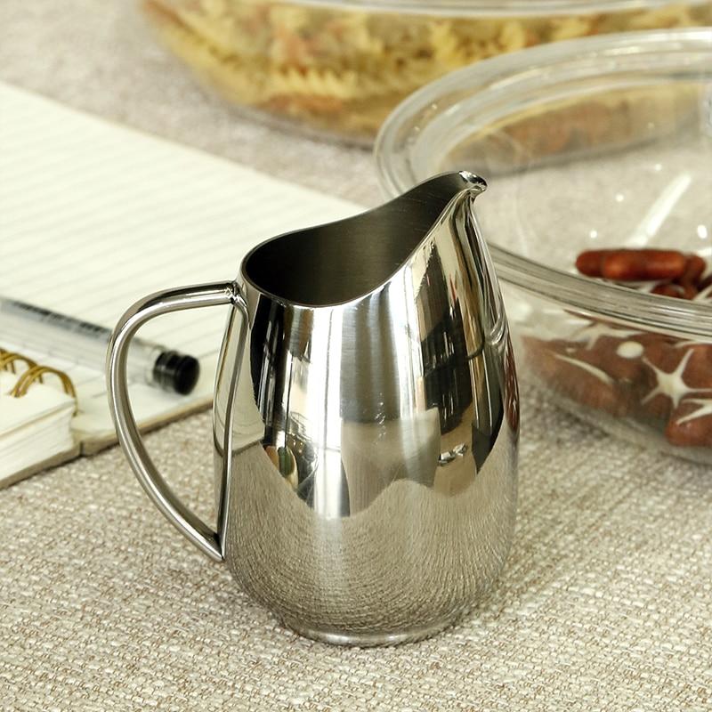 Gravy Boats 304 stainless steel milk pot milk tank cup Western food sauce  seasoning pots  Milk Jugs 130ml
