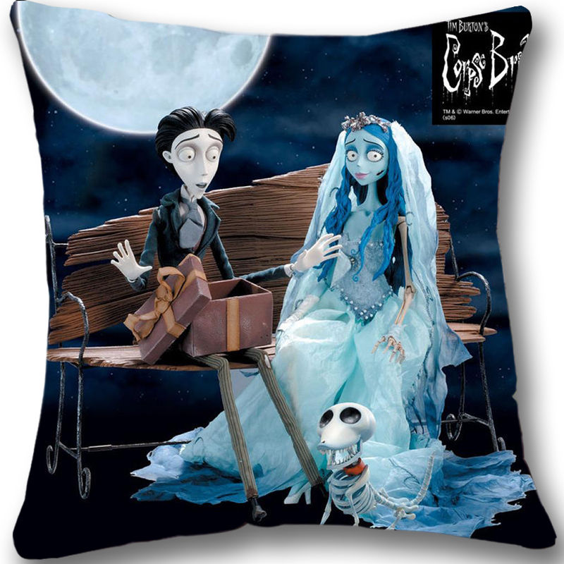 Peachy Us 13 49 10 Off Xmas Gift Corpse Bride Cushion Cover The Nightmare Before Christmas Decorative Throw Pillows Cases Zippered Square 18 Pdpeps Interior Chair Design Pdpepsorg