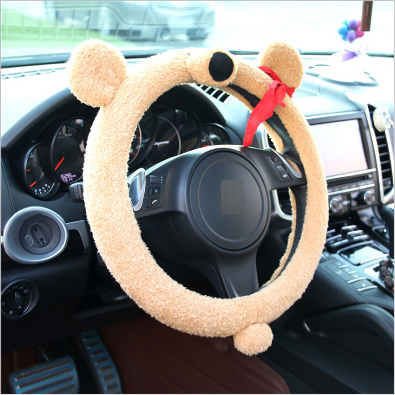 Interior Accessories Automobiles & Motorcycles 1 Pc Funny Plush Black Cats Car Steering Covers Autumn Winter 38cm Cute Animal Warm Steering Covers Case Car Accessories