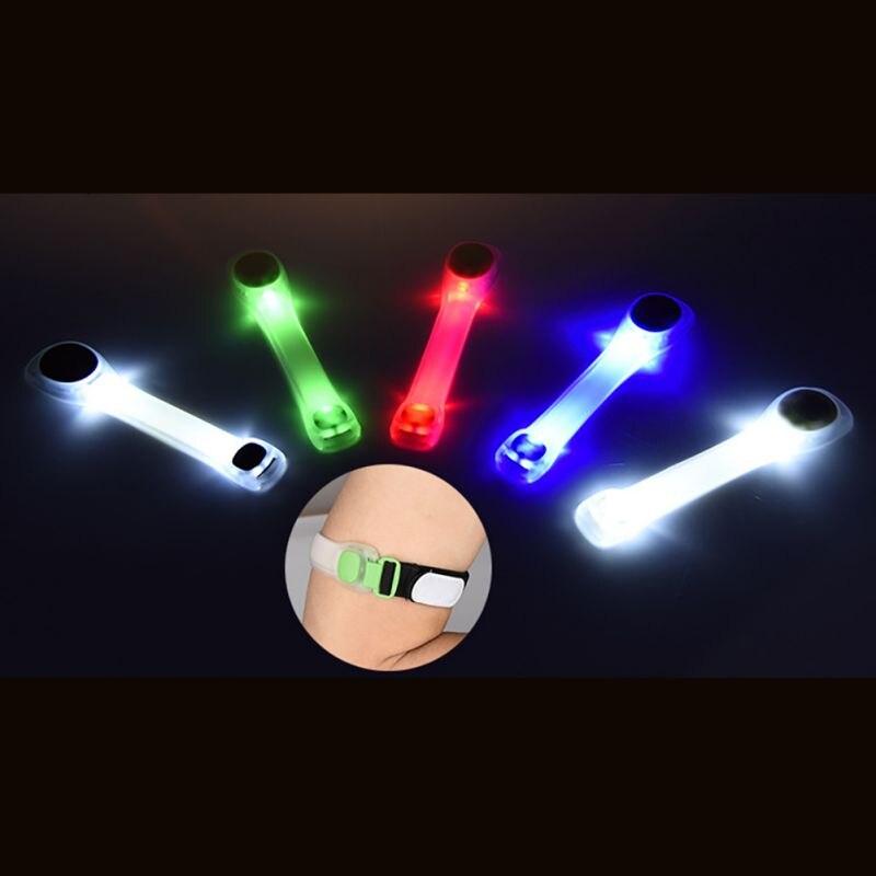 Новые Стиль 2018 высокое качество светодиодный повязки лампа Детская безопасность ремень Бег Велоспорт Светоотражающие руку ремень свет рег... ...