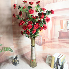 Klonca Luxury Flannel Flower 9pcs/bouquet 120cm Fake Artificial Rose for Home Decoration Wedding Party Gift