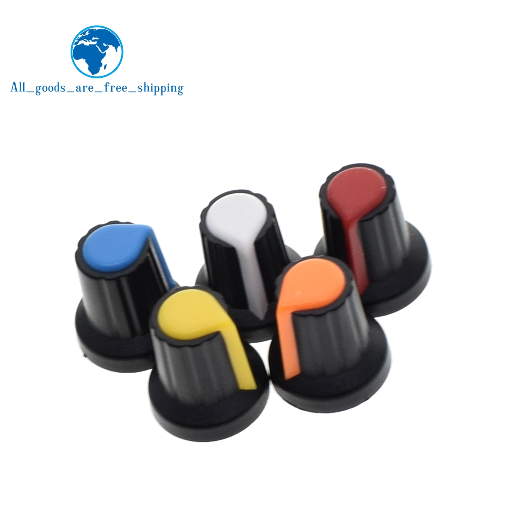 Integrated Circuits 20pcs Wh148 Potentiometer Knob Cap Yellow Orange Blue White Red 15x17mm Ag2 Knob Sale Price