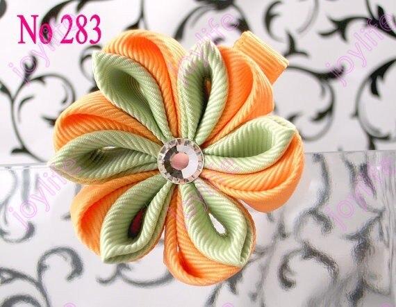 50 шт. 2,5-3 ''цветок канзаши заколки для волос катушка для значка заколки для волос модный бант для волос для девочек клипсы