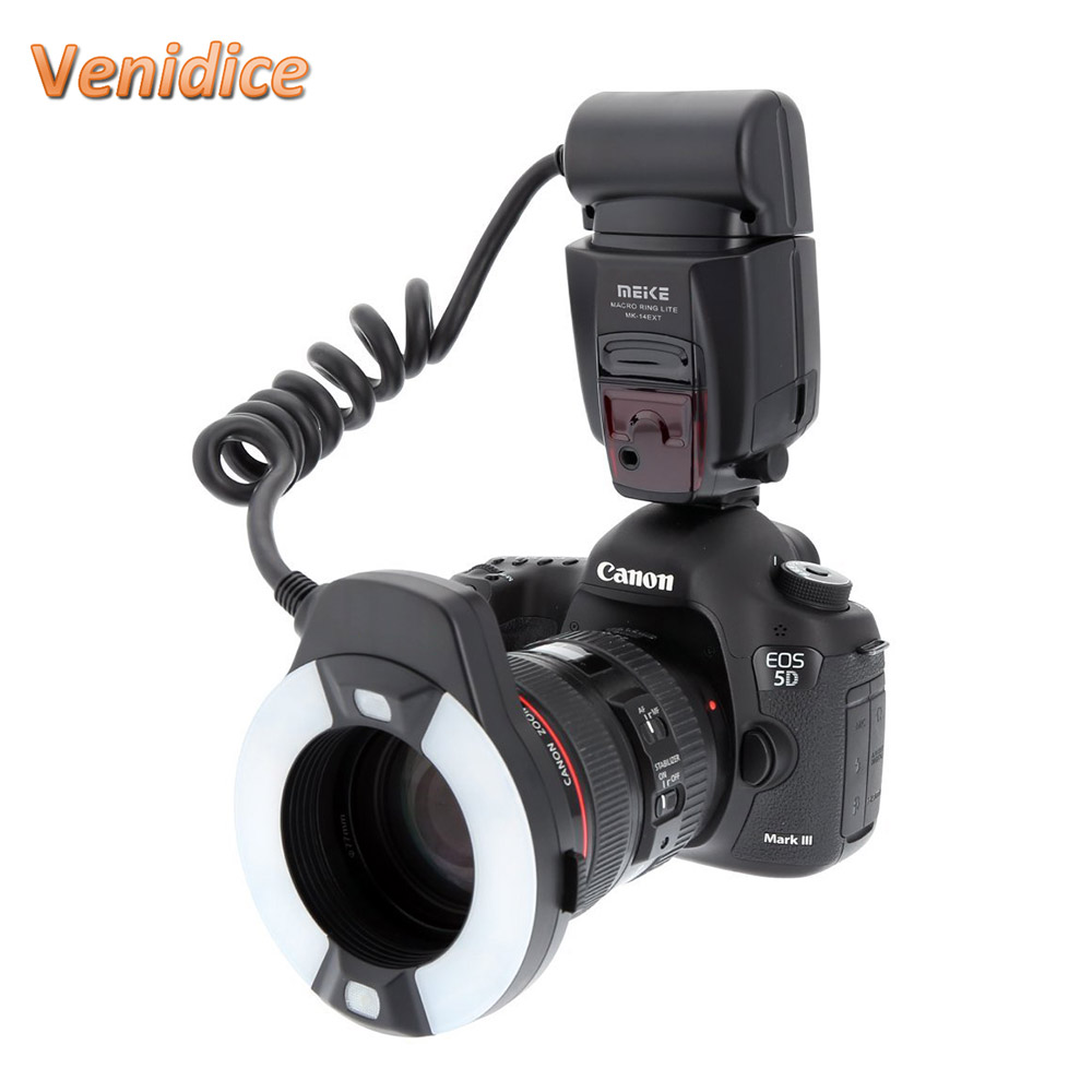 Meike MK-14EXTC Macro TTL Ring Flash for Canon E-TTL with LED AF Assist Lamp meke meike mk 14ext macro ttl ring flash for canon e ttl ttl with led af assist lamp