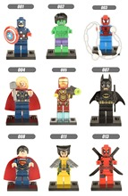 hot sell DC Marvel Super Heroes The Avengers hulk superman Deadpool Figures Building Blocks Minifigures Model Bricks Toys a