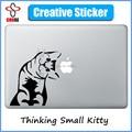 "Curious Cute Cat Cartoon Laptop Sticker for Apple MacBook Decal 11"" 12"" 13"" 15""  Macbook Air/ Pro/Retina Art Cover Skin Pegatina"