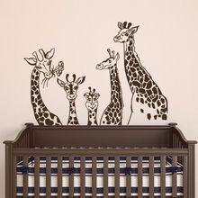 Giraffes Wall Decals Giraffe Family Wall Stickers Nursery Home Decor Wall Decal Removable Kids Room Sticker Giraffe Mural AY038