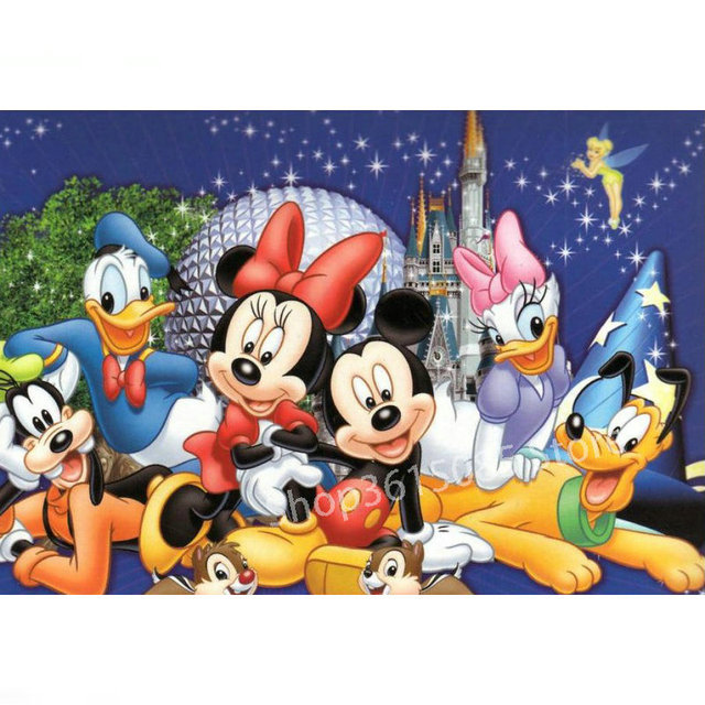 0c3ac0f69d Full round drill Disney Pictures 5D DIY Diamond Painting Mickey Mouse  Picture Crystal Mosaic 3D Diamond Cross Embroidery Decor