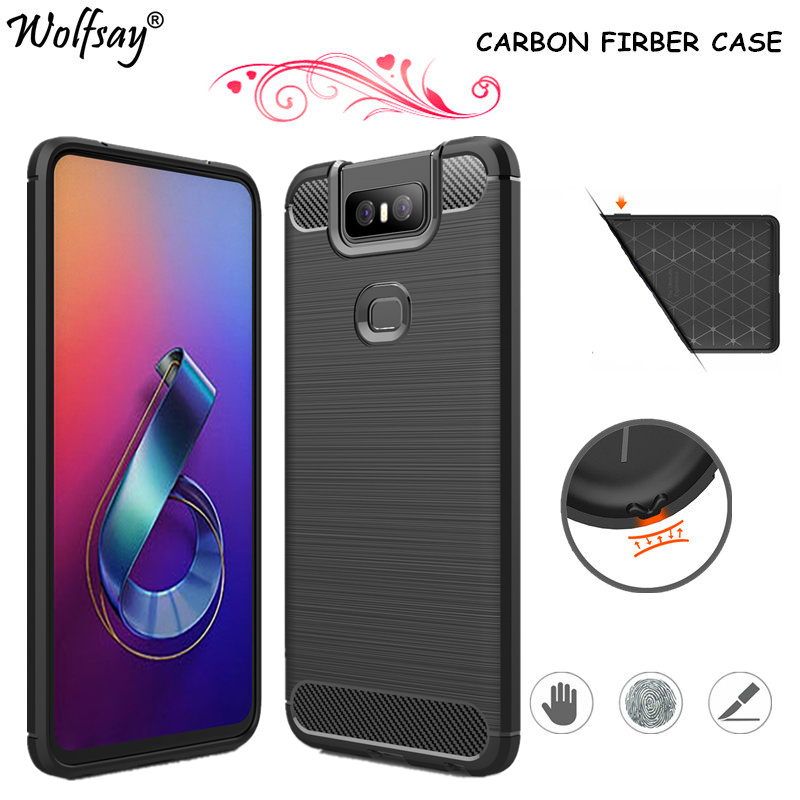 Carbon Fiber Cover For <font><b>Asus</b></font> <font><b>Zenfone</b></font> <font><b>6</b></font> ZS630KL <font><b>Case</b></font> Bag Shockproof Bumper Silicone Cover For <font><b>Asus</b></font> <font><b>Zenfone</b></font> <font><b>6</b></font> <font><b>2019</b></font> <font><b>Case</b></font> <font><b>Zenfone</b></font> 6Z image