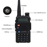 מכשיר הקשר 2pcs Baofeng UV5R שני הדרך רדיו מיני נייד 5W Dual Band VHF UHF מכשיר הקשר UV5R FM משדר ציד Ham סורק רדיו (2)