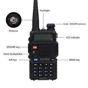 Image 2 - Baofeng UV 5R Two Way Radio Mini Portable 5W Dual Band VHF UHF Walkie Talkie UV5R 128CH FM Transceiver Hunting Ham Radio Scanner
