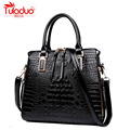 2017 Women High Quality Leather Handbags Fashion Luxury Ladies Alligator Crossbody Bags Double Zipper Pattern Design Woman Totes