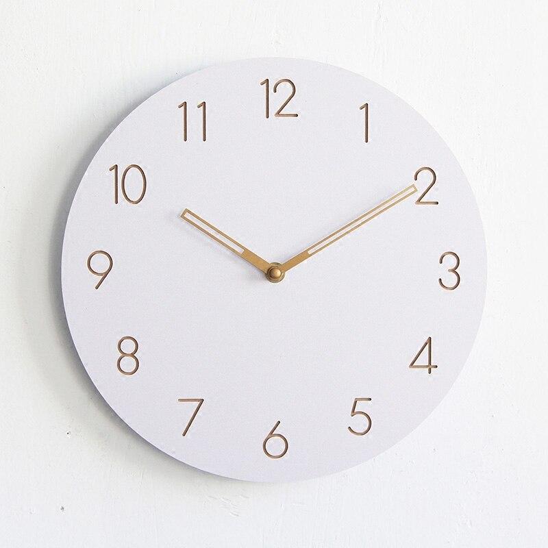 €15.19 |Reloj de pared decorativo grande Digital redondo de madera de 12  pulgadas de diseño moderno colgante en la pared reloj de cocina Mural ...