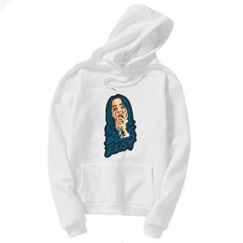 2019 billie eilish Hoodies women Spring Women Sweatshirts Hoodie Harajuku Casual bts Hoodie kpop Pullover white Kawaii print pajamas