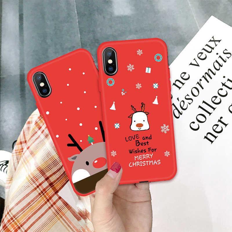 クリスマスツリー電話ケース iphone 8 7 プラスサンタサンタクロースケース iphone XS Max X XR 6 s Tpu シリコーンカバーバッグ