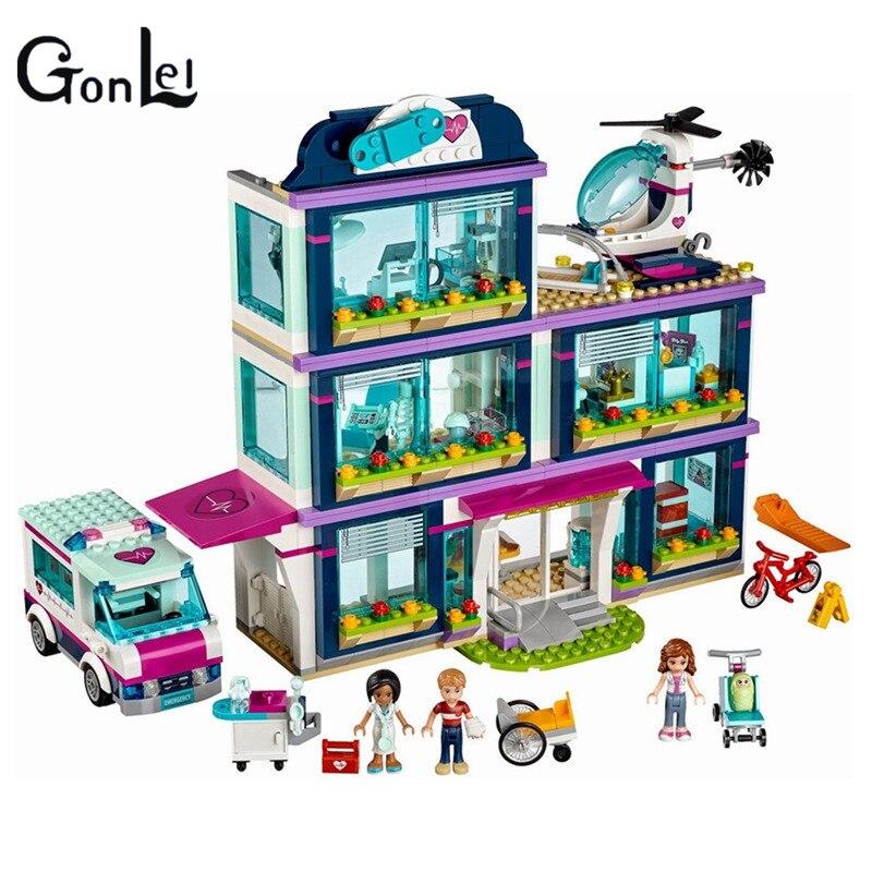 01039 Amigos seriesMenina 932 pcs Blocos deConstruction de brinquedos Tijolos Heartlake Hospital children brinquedo menin