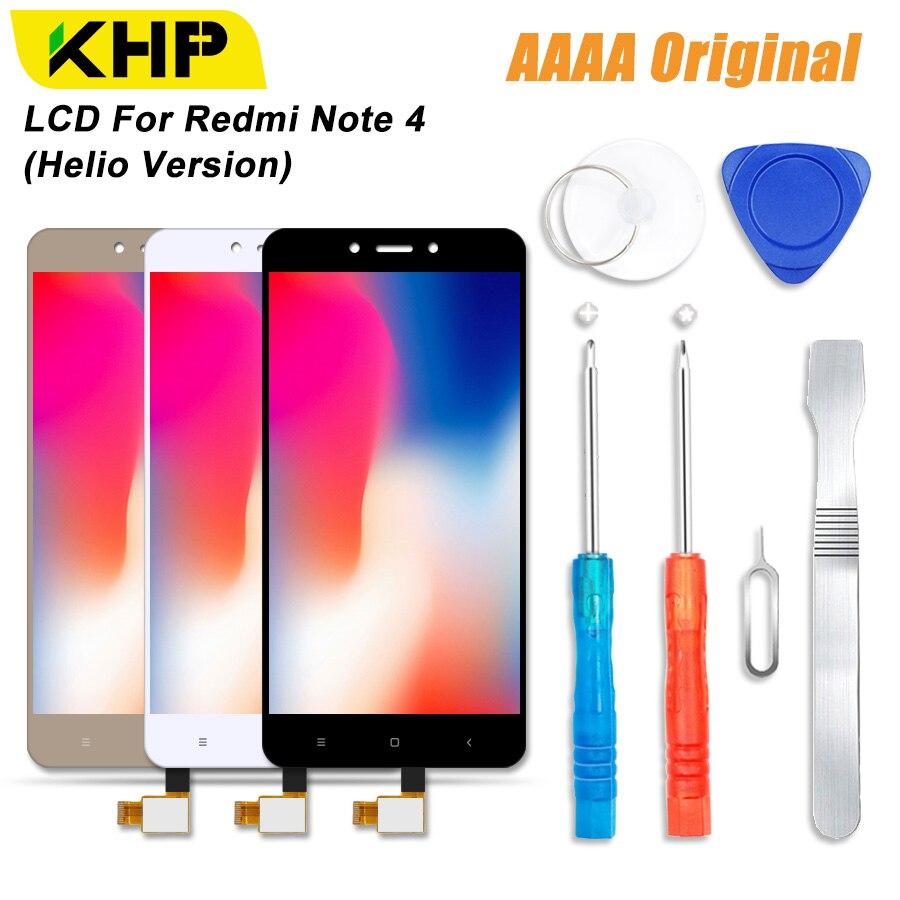 2018 KHP 100% AAAA Original LCD Screen Für Xiaomi Redmi Note 4 LCD Helio Version Display Touch Modul Bildschirme Ersatz