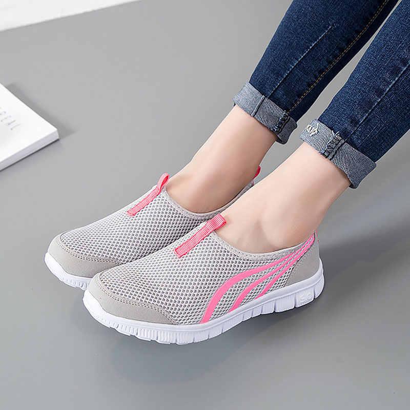 4d2ed97e Женская обувь 2019, Модная легкая дышащая Летняя женская обувь,  повседневная женская обувь, tenis