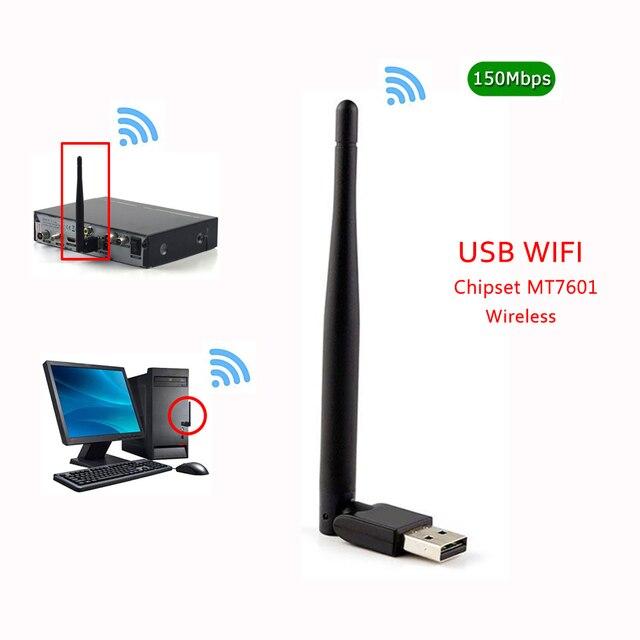 HOT MT7601 MTK7601 7601 150 M Externe USB WiFi Adapter Antenne Dongle for DVB S2 T2 T V6 V7 V8 F6S V8S PLUS Set Top TV Box PC