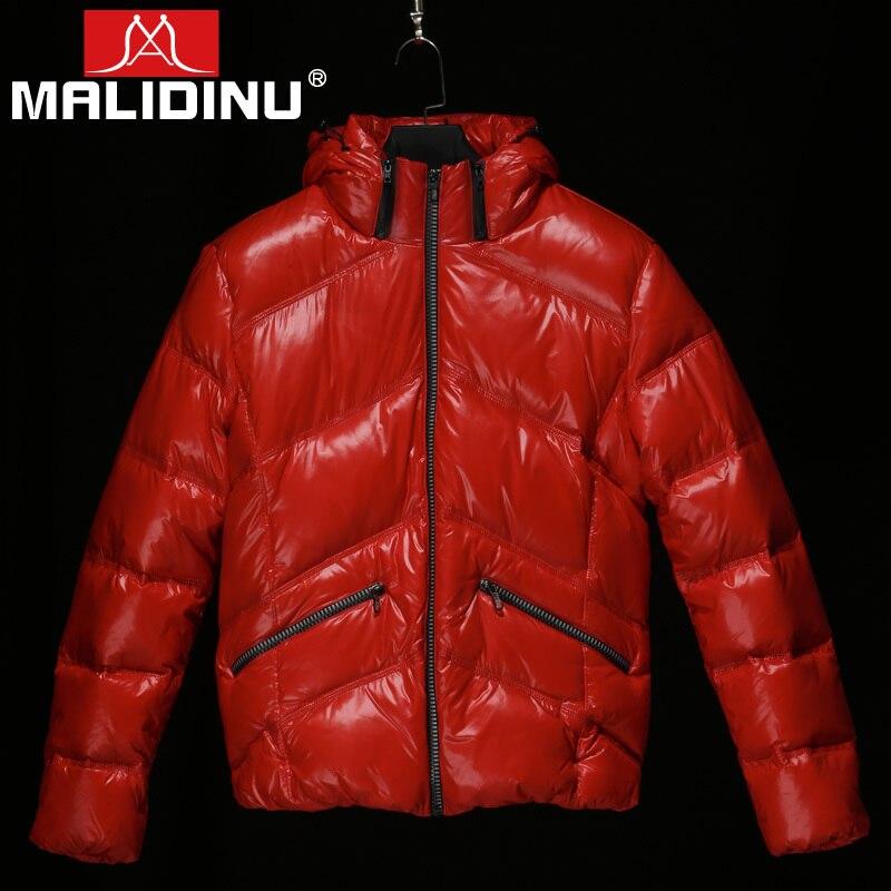 MALIDINU Brand New 2017 Fashion Winter Mans Thicken White Duck Down Jacket Coat Hood Parka European Size Free Shipping M13502