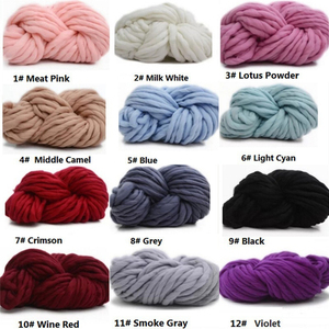 Image 5 - HOT SALE! 250g Fashion Super Bulky DIY Hand Knitting Blanket Hats Warm Giant Thick Yarn