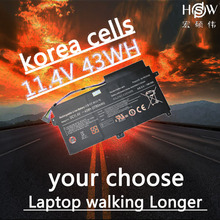 HSW  11.4v 43wh/3780mah Aa-pbvn3ab Ba43-00358a Laptop Battery Np470r5e Np470 Np510 370r4e 510R Np370r4e bateria akku