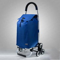 Aluminum Shopping Cart Small Cart Old Man Home Light Shopping Cart Climbing Stairs Folding Trolley Trailer