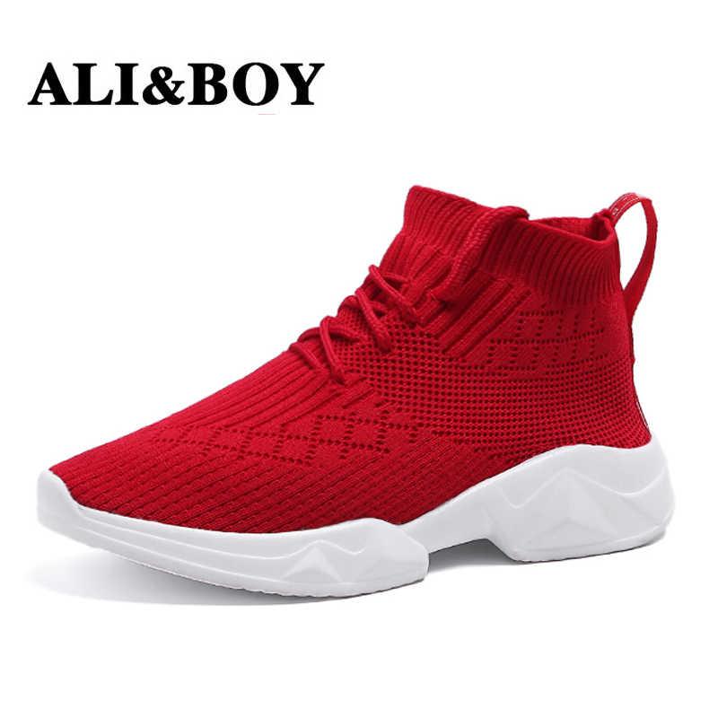 ALIBOY Sock Sneaker Breathable Mesh