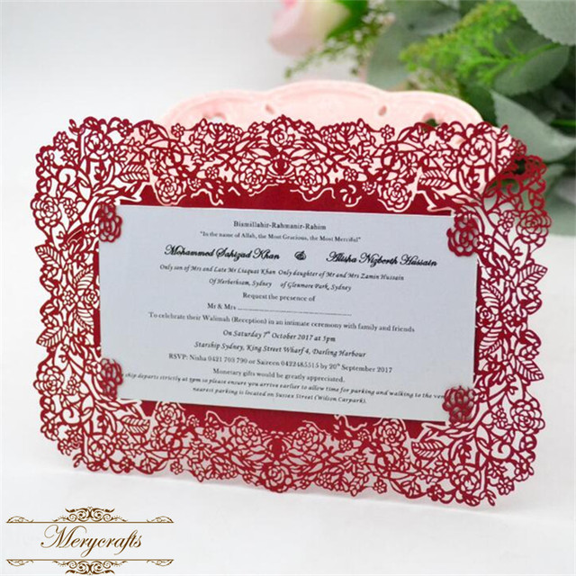 Us 21 0 Chinese Red Lace Laser Cut Wedding Invitation Card In Cards Invitations From Home Garden On Aliexpress Com Alibaba Group