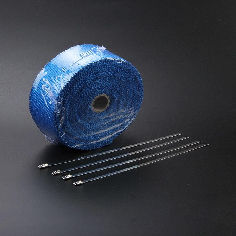 Титановый выпускной коллектор лента термическая удерживающая Автомобильная термолента - Цвет: blue