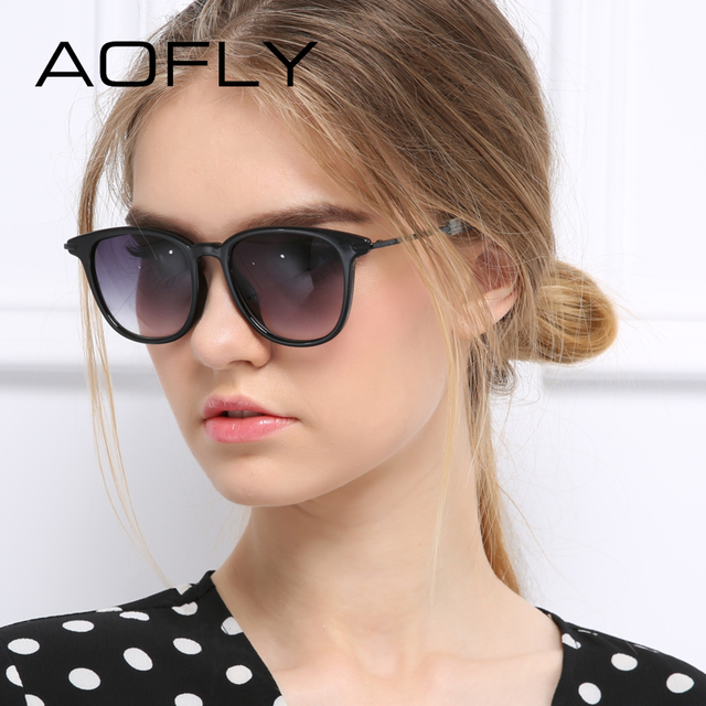 Aofly new mulheres retro quadrados óculos de sol da moda óculos de sol das mulheres revestimento das mulheres do desenhador óculos de sol uv400 óculos de sol luneta de soleil