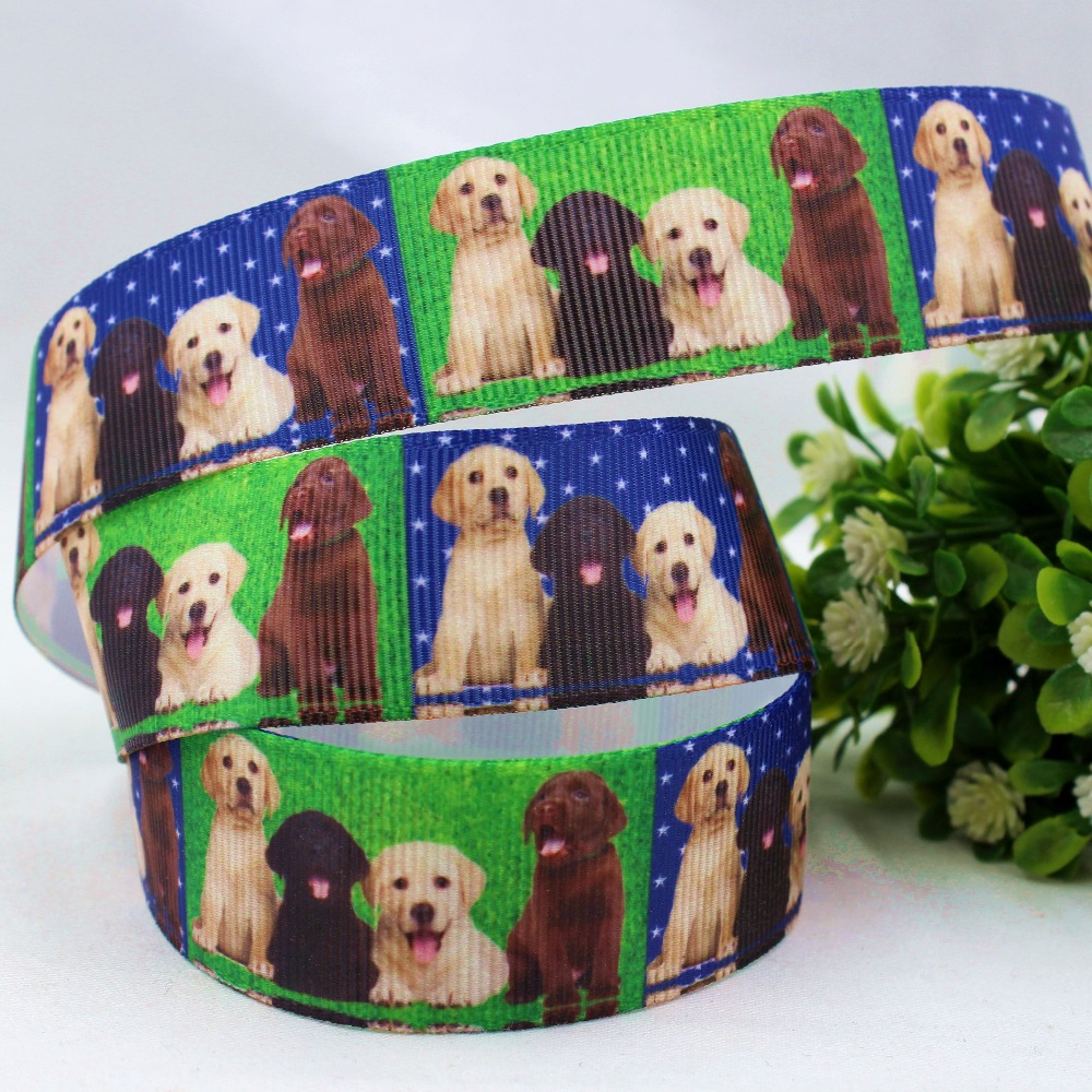 ③1632359, 25 mM perro imprimió la cinta del grosgrain, accesorios ...