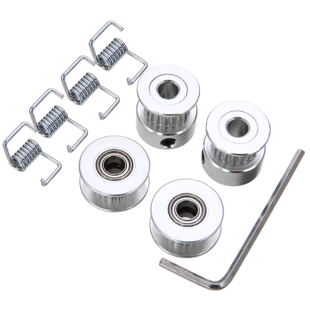 Smooth Idler Pulley With bore 5mm Bearing For width 6.5mm GT2 Timing belt