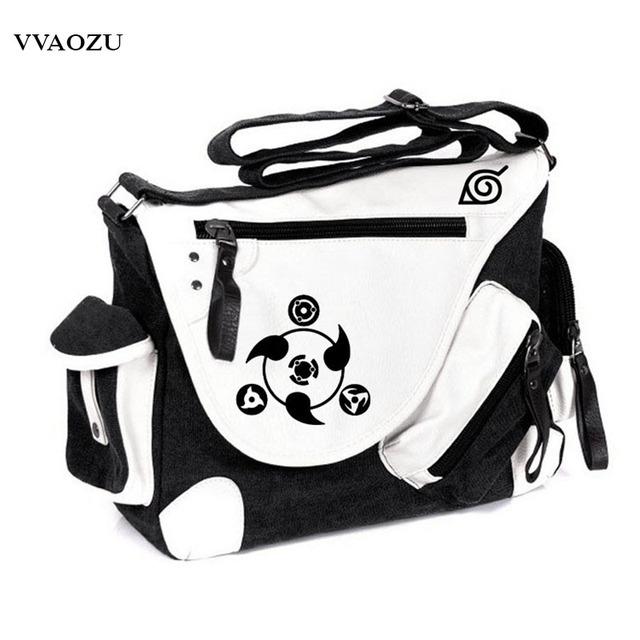 Naruto Sharingan Printing Messenger Bags Canvas Shoulder Bag