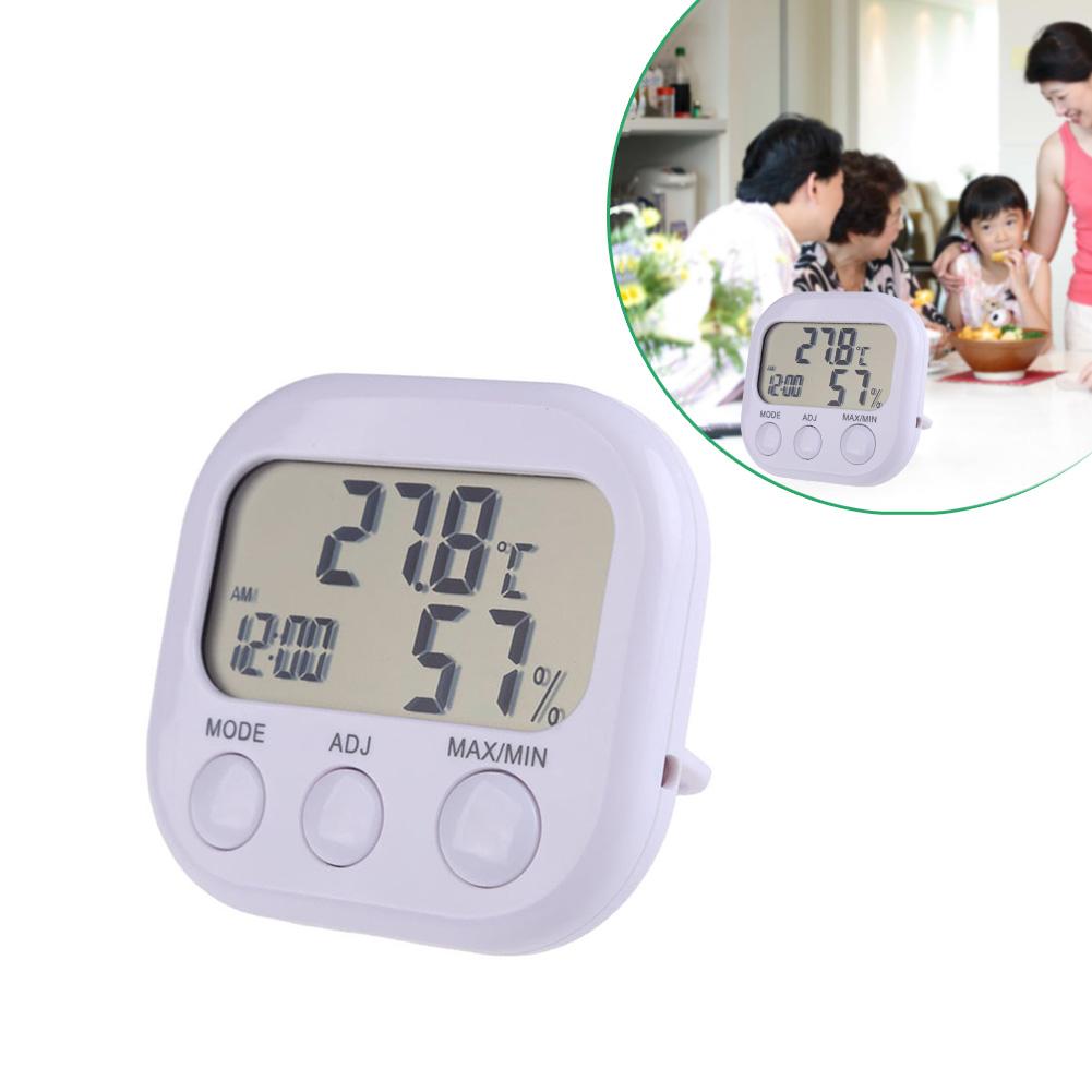 Maison numérique lcd station météo intérieur extérieur sans fil thermomètre hygromètre horloge température hygromètre gauge