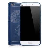 Original Mi5 Case Silicon Back Cover For Xiaomi Mi5 Mi 5 M5 Luxury Matte 3D Carved
