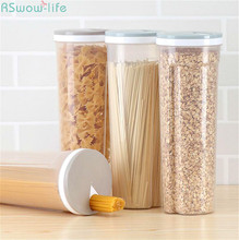 Kitchen Noodle Box Plastic Transparent Receiving Grain Storage Tank Food Grade Preservation Containers For Stuff
