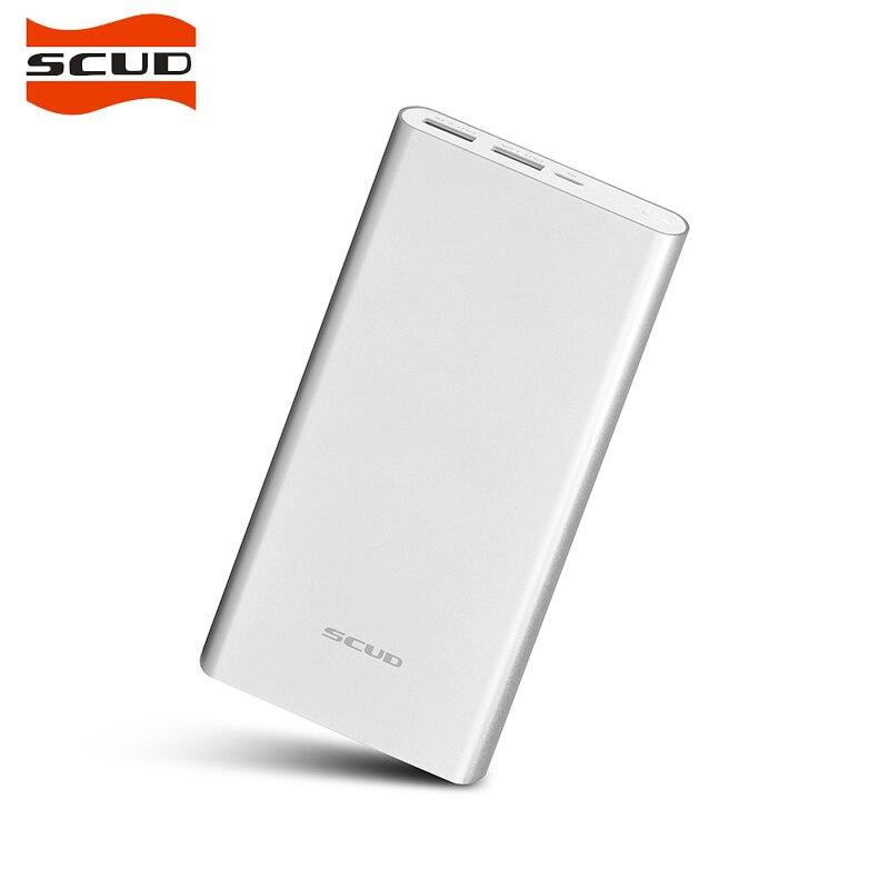 Scud 20000 mah power bank duplo usb portátil carregador de bateria externa power bank carregador rápido móvel 18650 powerbank m201 para o telefone