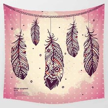 Hot sale summer style sea beach landscape square tapestry large wall hanging  home decoration 1750mm*1750mm