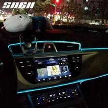SNCN مرنة النيون LED سيارة الداخلية الغلاف الجوي شريط أضواء لأودي A1 A3 A4 A5 A6 A7 A8 Q2 Q3 Q5 Q7 Q8 R8 S3 S4 S5 S6 S7 S8 TT
