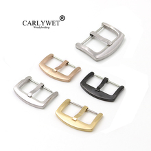 CARLYWET 18 20 22 24mm 316L Stainless Steel Brushed Matt 3mm Tang Tongue Replacement Pin Watch Buckle For Rolex Omega IWC