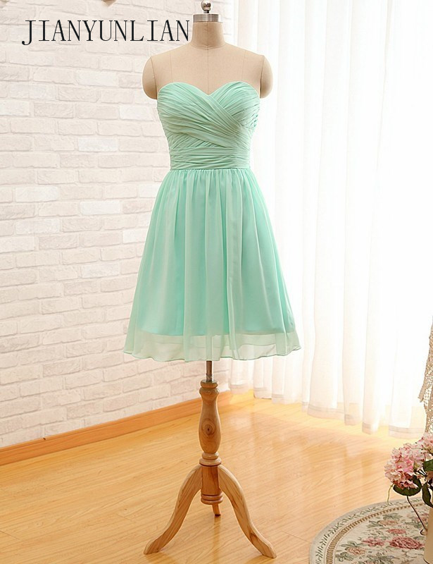Mint Green   Bridesmaid     Dresses   Short Robe Demoiselle A Line Sweetheart Short Party   Dresses   for Juniors