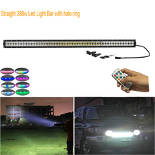 wire harness equipment online shopping the world largest wire 50 288w straight offroad led work light bar rgb chasing color shifting