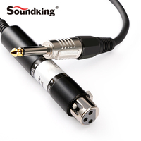 Soundking Audio Impedance Conversion Line XLR(F) 6.35 Male Mono Audio Cable Jack Microphone Leader High Quality C51