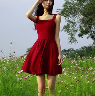 b3ccd2aad019 2015 New Summer Sexy Womens Casual red Short Dress