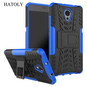 """Image 4 - Hatoly Voor Cover Lenovo P2 Case Lenovo P2 P2c72 5.5 """"Armor Silicone Hard Plastic Case Voor Lenovo Vibe P2 met Houder Stand]"""