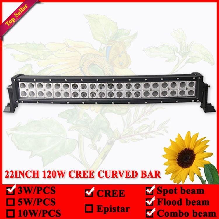 22 inç 120W shirit LED dritë e lakuar për Offroad 4X4 Led Lampë - Dritat e makinave - Foto 4