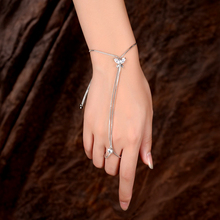 Adjustable Bangle Snake Chain Silver Color Shining Cubic Zirconia Butterfly Cute Animal Bracelet&Bangle Charm Jewelry For Women